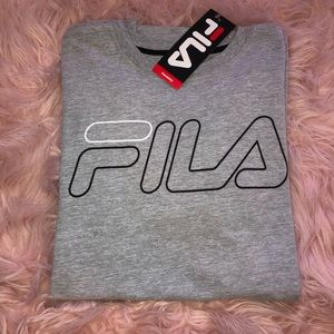 Gray Fila Over sized Tee
